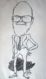George Fisher cartoon featuring Ernie Dumas, December 5, 2002 © Pryor Center for Arkansas Oral and Visual History, University of Arkansas