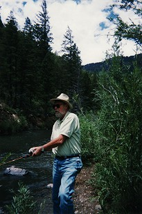 Ernie Dumas fishing in New Mexico, 2002 © Pryor Center for Arkansas Oral and Visual History, University of Arkansas