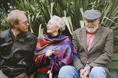 Christopher Dumas with parents, Elaine and Ernie Dumas, in San Francisco's Alamo Square, ca. 2010 © Pryor Center for Arkansas Oral and Visual History, University of Arkansas