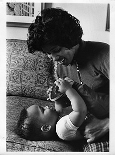 Joycelyn Elders and her son, Eric © Pryor Center for Arkansas Oral and Visual History, University of Arkansas