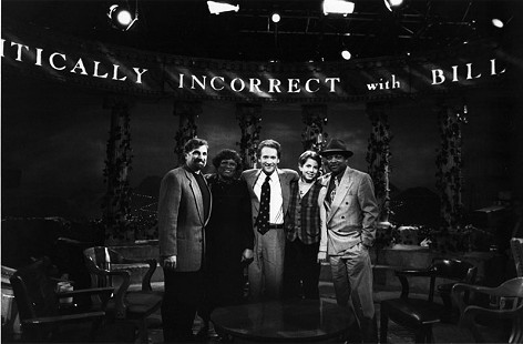 Joycelyn Elders with Bill Maher on his television show, <i>Politically Incorrect</i> &copy; Pryor Center for Arkansas Oral and Visual History, University of Arkansas