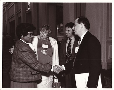 Joycelyn Elders with the officers from the Association of Reproductive Health Professionals © Pryor Center for Arkansas Oral and Visual History, University of Arkansas