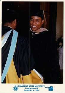 Kevin Elders, son of Joycelyn Elders, at his graduation, age 25 © Pryor Center for Arkansas Oral and Visual History, University of Arkansas