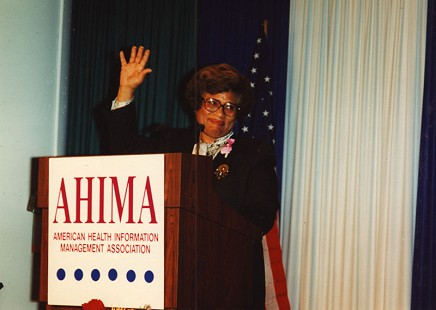 Joycelyn Elders speaking at the American Health Information Management Association © Pryor Center for Arkansas Oral and Visual History, University of Arkansas