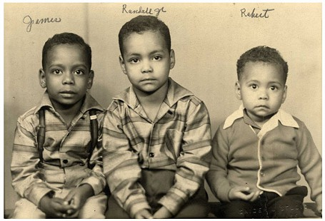 Randall Ferguson Jr. with brothers, Robert and James; Camden, Arkansas, 1958 © Pryor Center for Arkansas Oral and Visual History, University of Arkansas