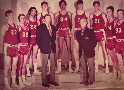 Randall Ferguson Jr. with undefeated Arkansas Shoats basketball team © Pryor Center for Arkansas Oral and Visual History, University of Arkansas