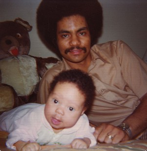 Randall Ferguson Jr. and his baby son © Pryor Center for Arkansas Oral and Visual History, University of Arkansas