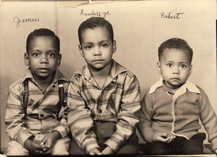 Randall Sr. and Lizzie Ferguson's sons: James, Randall Jr., and Robert; Camden, Arkansas, 1958 © Pryor Center for Arkansas Oral and Visual History, University of Arkansas