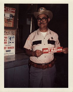 Randall Ferguson Sr. campaigning for Sheriff Jerry McMahen, ca. 1971 © Pryor Center for Arkansas Oral and Visual History, University of Arkansas