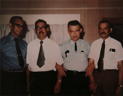 Randall Ferguson Sr. (2nd from left) and his brothers, Elijah, Henry, and Harold © Pryor Center for Arkansas Oral and Visual History, University of Arkansas