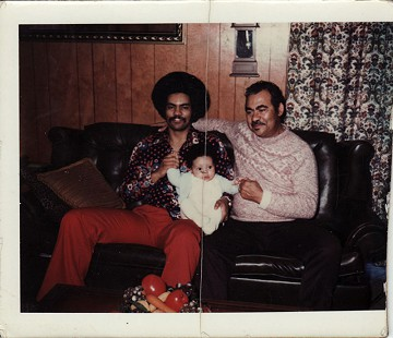 Three generations of Fergusons: Randall Jr.; Randall Jr.'s son, Trey; and Randall Sr.; Lincoln Drive residence, Camden, Arkansas, ca. 1972 © Pryor Center for Arkansas Oral and Visual History, University of Arkansas