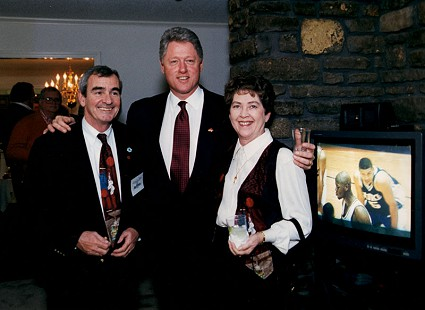 Official White House photo of Dan and Patsy Ferritor with Bill Clinton, December 9, 1995 © Pryor Center for Arkansas Oral and Visual History, University of Arkansas