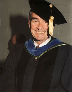 Dan Ferritor at his last University of Arkansas commencement, 1997 © Pryor Center for Arkansas Oral and Visual History, University of Arkansas