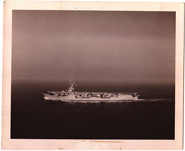 Edmond Freeman's ship, USS Badoeng Strait (CVE-116) © Pryor Center for Arkansas Oral and Visual History, University of Arkansas