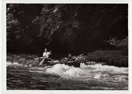 Edmond Freeman and his son, Andy, canoeing the Buffalo National River, late 1960s © Pryor Center for Arkansas Oral and Visual History, University of Arkansas
