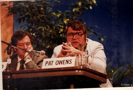 Pat Owens on the panel of the Pine Bluff Commercial's Centennial symposium, 1981 © Pryor Center for Arkansas Oral and Visual History, University of Arkansas