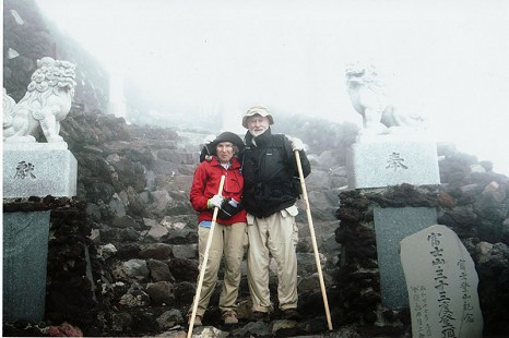 June and Edmond Freeman climbing Mt. Fuji, October 2005 © Pryor Center for Arkansas Oral and Visual History, University of Arkansas
