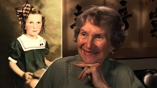 composite of June Freeman childhood portrait with still image from 2009 Pryor Center video interview © Composite image of early photo of June Freeman and still frame from Pryor Center video interview