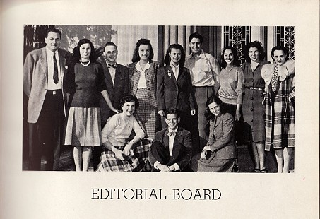 Art editor June Biber (Freeman), bottom row, 1st from left, high school yearbook photo, ca. 1946 © Pryor Center for Arkansas Oral and Visual History, University of Arkansas