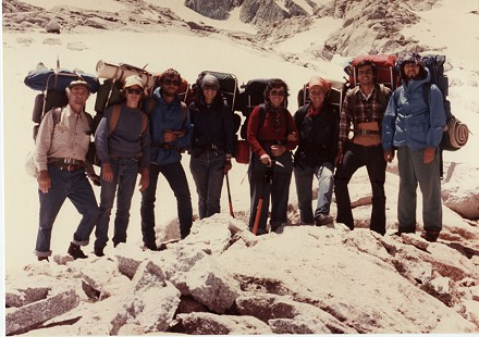 Edmond Freeman, far left, and June Freeman, 4th from right, with the Freeman family at Mt. Whitney © Pryor Center for Arkansas Oral and Visual History, University of Arkansas