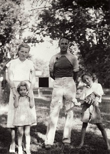 "Ellen Gilchrist with her mother, Aurora ""Bodie"" Louise Alford Gilchrist; father, William Garth Gilchrist Jr.; and brother, Dooley Gilchrist, 1939 © Pryor Center for Arkansas Oral and Visual History, University of Arkansas"