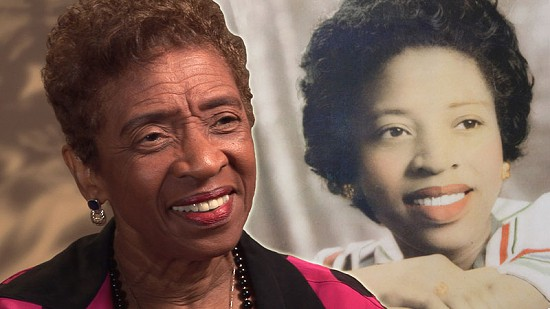 Composite image of early photo of Dorothy Gillam and still frame from Pryor Center video interview © Pryor Center for Arkansas Oral and Visual History, University of Arkansas