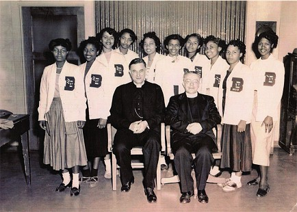 Dorothy Clayborne (Gillam) with her classmates at St. Bartholomew's Catholic Church, Little Rock, Arkansas © Pryor Center for Arkansas Oral and Visual History, University of Arkansas