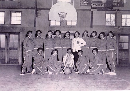 Dorothy Clayborne (Gillam) with her basketball team, St. Bartholomew's Bomberettes, 1951-52 © Pryor Center for Arkansas Oral and Visual History, University of Arkansas