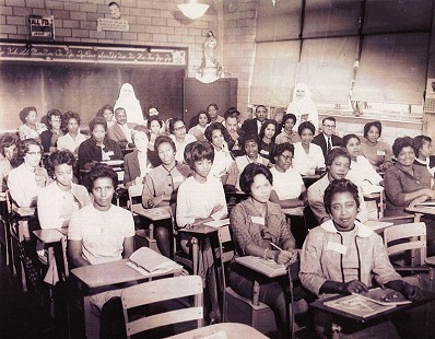 Dorothy Clayborne (Gillam), first row, last seat  © Pryor Center for Arkansas Oral and Visual History, University of Arkansas