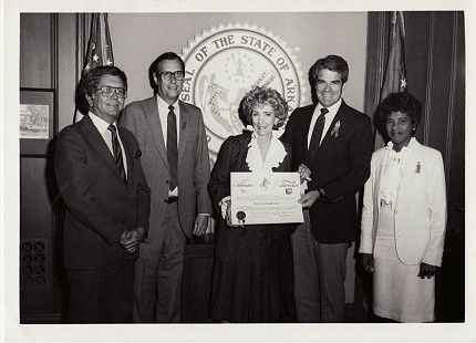 Dorothy Gillam (far right), 1983 © Pryor Center for Arkansas Oral and Visual History, University of Arkansas