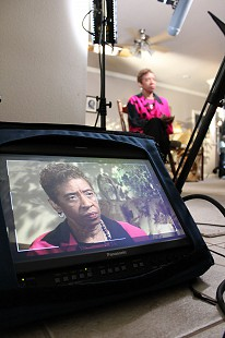 Behind-the-scenes photo of Pryor Center interview with Dorothy Gillam; Little Rock, Arkansas, 2011 © Pryor Center for Arkansas Oral and Visual History, University of Arkansas