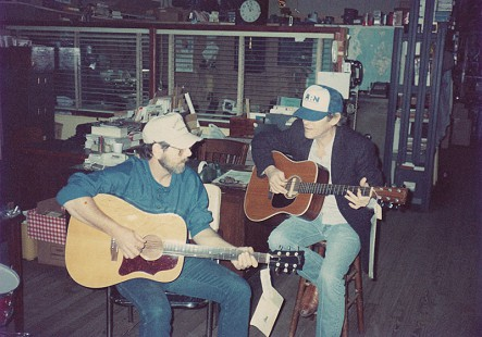 C.W. Gatlin (left) and Levon Helm playing at Gist Music Company, Helena, Arkansas © Pryor Center for Arkansas Oral and Visual History, University of Arkansas