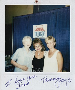 Morse Gist's wife, Jean (left) and their daughter, Jody, with Tammy Faye Baker (center), Memphis, Tennessee, 2000 © Pryor Center for Arkansas Oral and Visual History, University of Arkansas