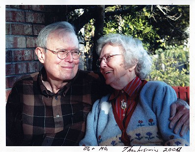 Morse and Jean Gist, Thanksgiving 2004 © Pryor Center for Arkansas Oral and Visual History, University of Arkansas