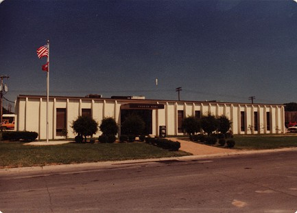 The <i>Courier News</i> office building, Blytheville, Arkansas &copy; Pryor Center for Arkansas Oral and Visual History, University of Arkansas