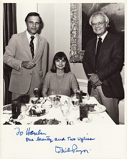 Hank Haines (right) with his wife, Melinda Haines, and David Pryor; photo signed by David Pryor, March 9, 1982 © Pryor Center for Arkansas Oral and Visual History, University of Arkansas