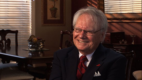 Still frame from Pryor Center video interview with Hank Haines at the Flippo residence; Fayetteville, Arkansas, 2009 © Pryor Center for Arkansas Oral and Visual History, University of Arkansas