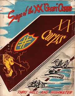"<i>Saga of the XX ""Ghost"" Corps: Its History and Service in World War II</i> dust jacket © Pryor Center for Arkansas Oral and Visual History, University of Arkansas"