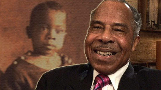 Composite image of early photo of George Haley and still frame from Pryor Center video interview © Pryor Center for Arkansas Oral and Visual History, University of Arkansas