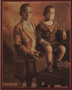 Studio portrait of George Haley and his brother, Alex Haley © Pryor Center for Arkansas Oral and Visual History, University of Arkansas