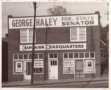 Kansas State Senate campaign headquarters of George Haley © Pryor Center for Arkansas Oral and Visual History, University of Arkansas
