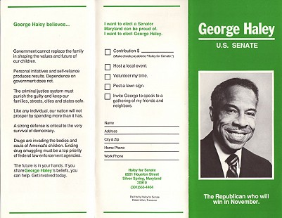 US Senate campaign flyer, 1986 © Pryor Center for Arkansas Oral and Visual History, University of Arkansas
