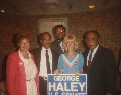 George Haley with Alex Haley during his campaign for US Senator from Maryland © Pryor Center for Arkansas Oral and Visual History, University of Arkansas