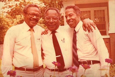 George Haley with his brothers, Alex and Julius © Pryor Center for Arkansas Oral and Visual History, University of Arkansas