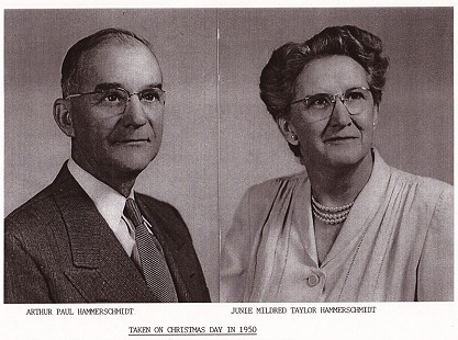 John Paul Hammerschmidt's parents, Arthur Paul Hammerschmidt and Junie Mildred Taylor Hammerschmidt                                © Pryor Center for Arkansas Oral and Visual History, University of Arkansas