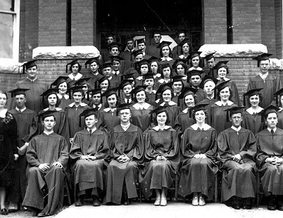 John Paul Hammerschmidt (3rd row, 4th from left) at his high school graduation; Harrison, Arkansas                        © Pryor Center for Arkansas Oral and Visual History, University of Arkansas