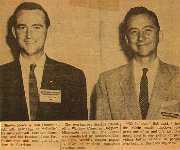 Newspaper clipping of Bob and John Paul Hammerschmidt © Pryor Center for Arkansas Oral and Visual History, University of Arkansas