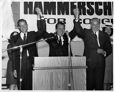 John Paul Hammerschmidt with Richard Nixon and Winthrop Rockefeller                               © Pryor Center for Arkansas Oral and Visual History, University of Arkansas