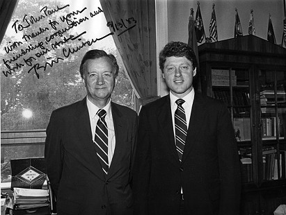John Paul Hammerschmidt and Bill Clinton, 1983                            © Pryor Center for Arkansas Oral and Visual History, University of Arkansas