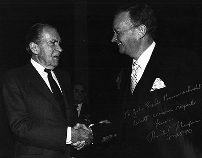 John Paul Hammerschmidt with Richard Nixon, 1990                                © Pryor Center for Arkansas Oral and Visual History, University of Arkansas